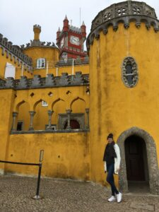 My tall self in front of one of the Sintra buildings